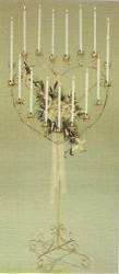 17 candle heart shaped candelabra