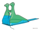 dino slip n slide ride