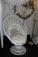 fan back bridal chair
