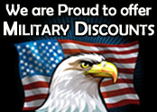 We are Proud to Offer Military Discounts