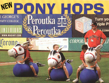 pony hops inflatable racing game