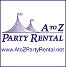 Contact our other location,  A to Z Party Rental for your tent & table setting  rentals