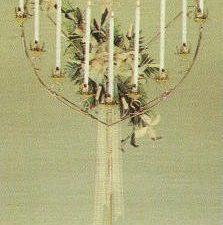 17 candle heart shaped candelabra