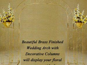 Brass Wedding Arch