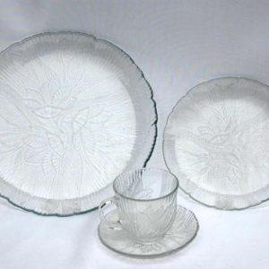 China_Rental_Cream_Floral_Glass_China