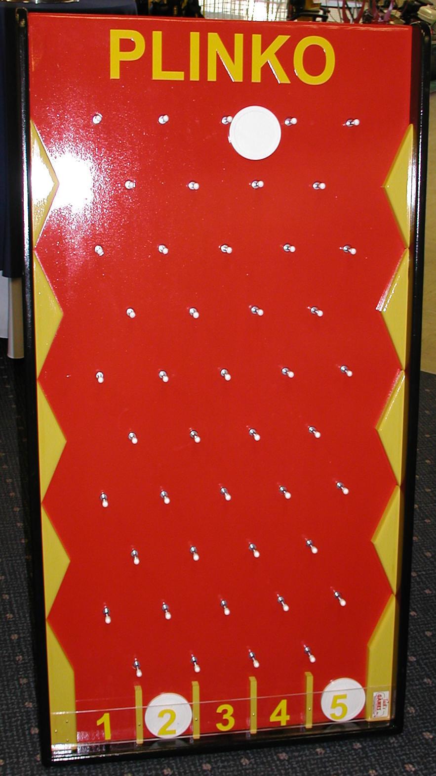 Plinko game of chance