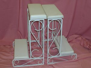 White Kneeling Benches