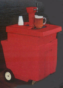 beer cart with co2 tap