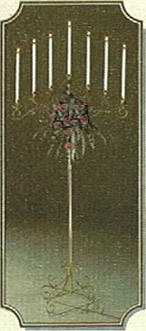 curved candelabra 7 branch