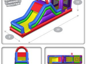 funhouse combo inflatable ride