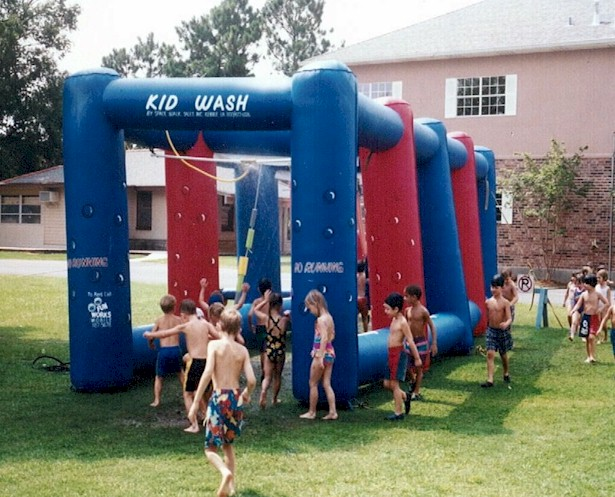 kid wash inflatable game