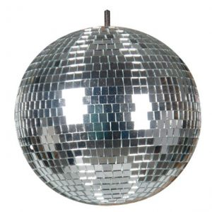 mirror ball with light
