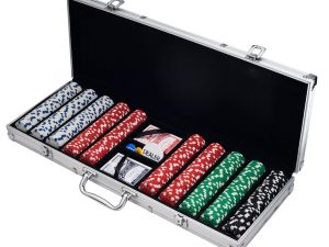 Poker chips in case
